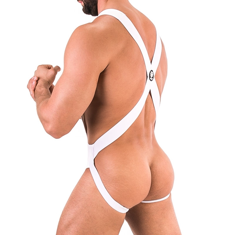 BARCODE Berlin wet backless BODY jock 91592 in white