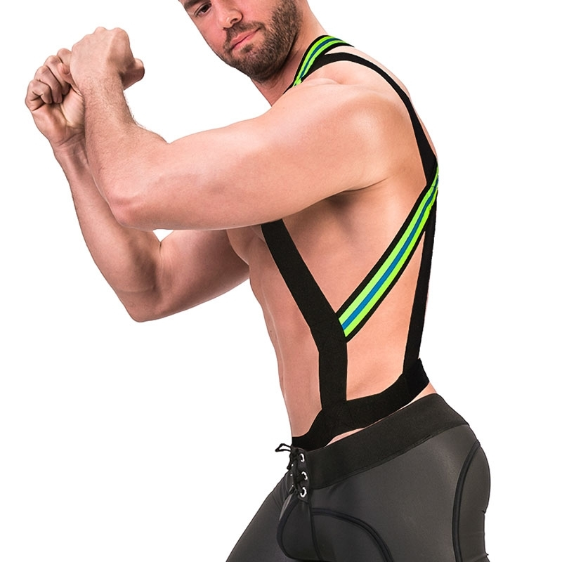 BARCODE Berlin HARNESS holster 91672 bondage in neon green