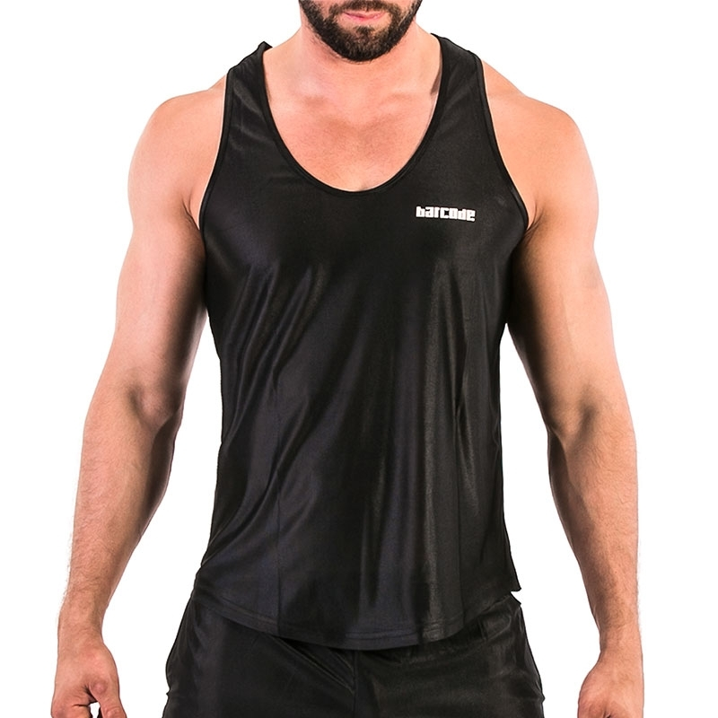 BARCODE Berlin TANK TOP light 91574 sporty in black