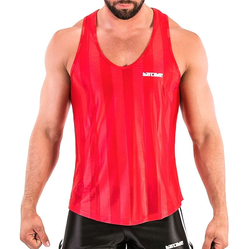 BARCODE Berlin TANK TOP light 91574 sporty in red