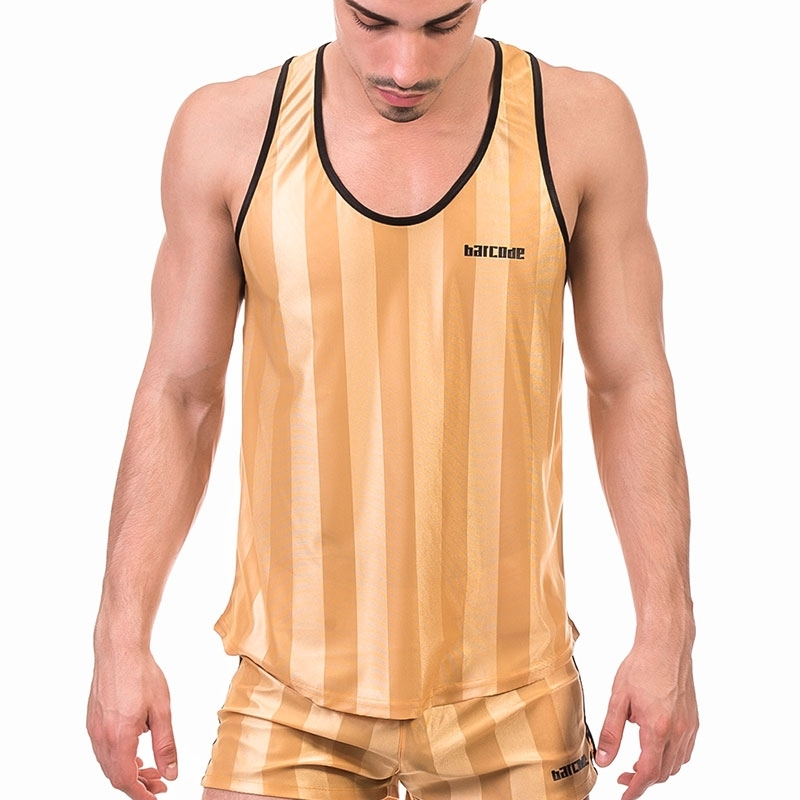 BARCODE Berlin TANK TOP light 91574 sporty in ocher-gold