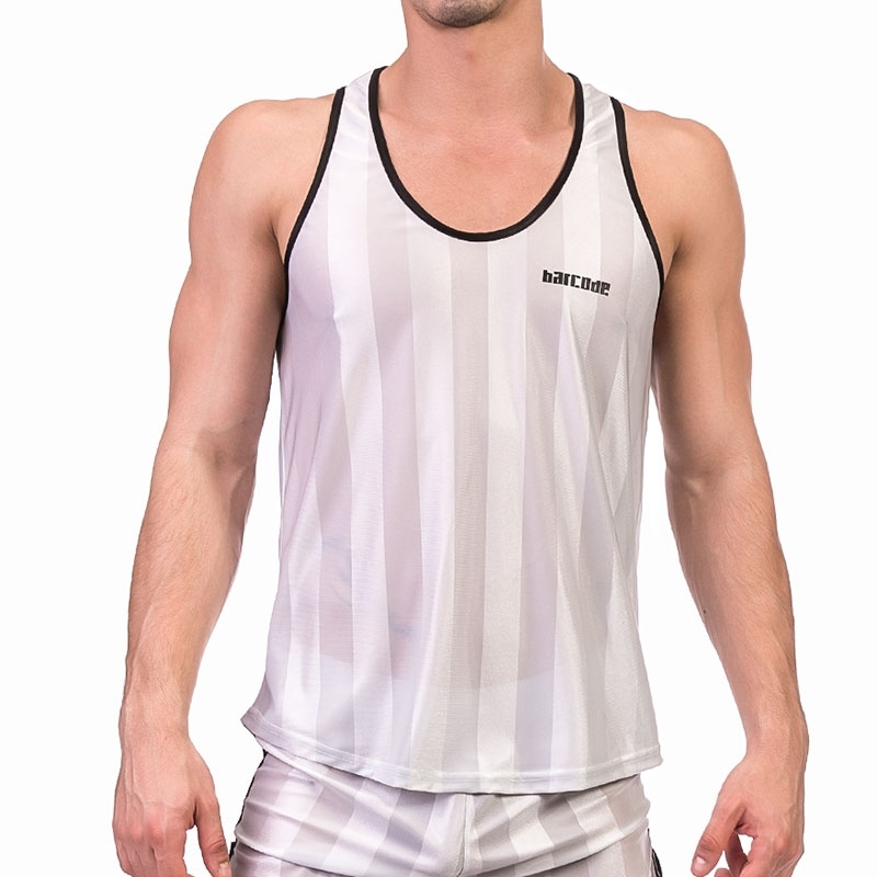 BARCODE Berlin TANK TOP light 91574 sporty in silver-grey