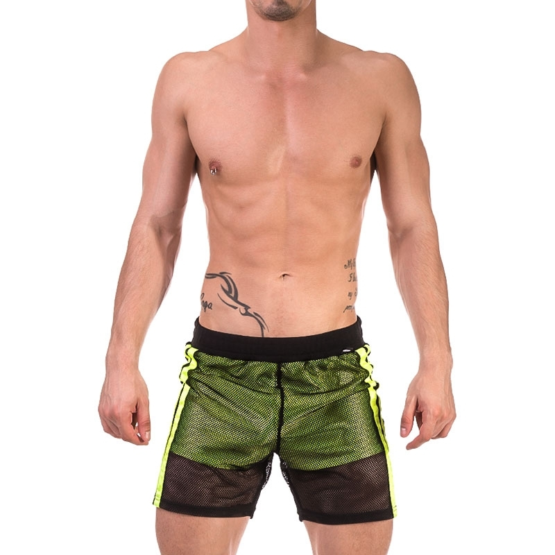 BARCODE Berlin SHORTS mesh 91655 double layer in neon green