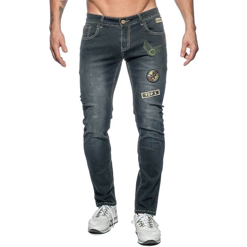 ADDICTED JEANSHOSE AD749 Armee Style in schwarz