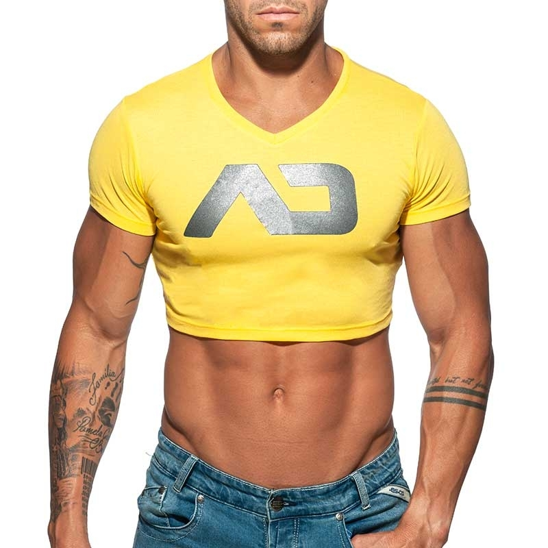 ADDICTED TOP SHIRT basic AD819 in yellow