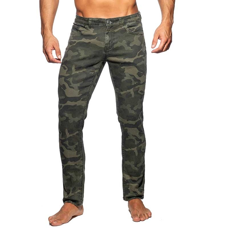 ADDICTED JEANSHOSE AD837 in camouflage oliv