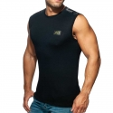 ADDICTED TANK TOP Army mesh AD785 in black