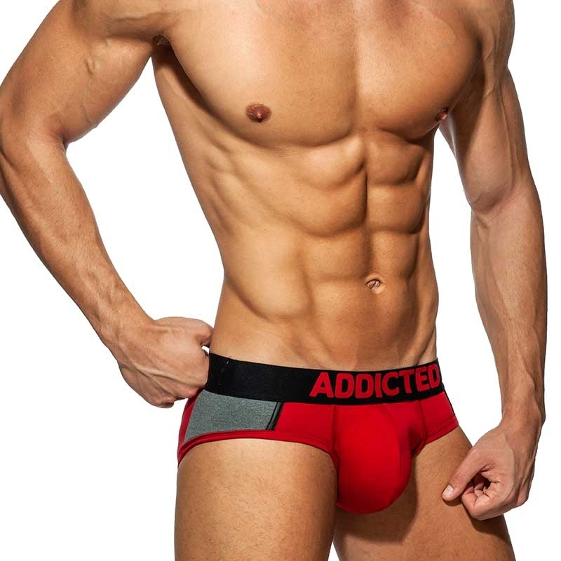 ADDICTED BRIEF spacer AD786 Push-Up in red