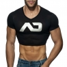 ADDICTED TOP SHIRT basic AD819 in black