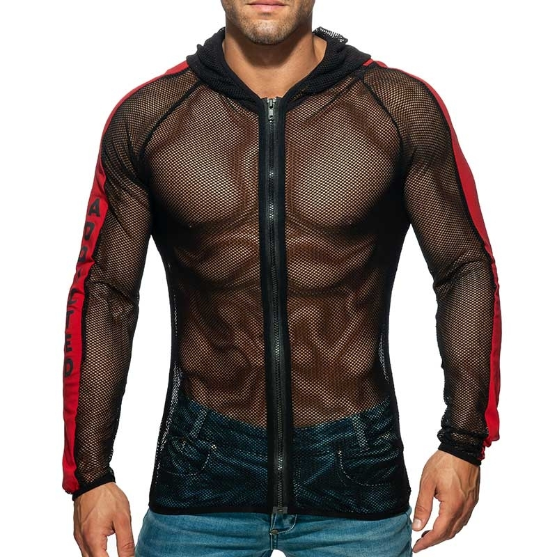 ADDICTED mesh JACKET fitness AD789 in black