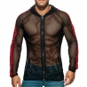 ADDICTED mesh JACKET fitness AD789 in black-red