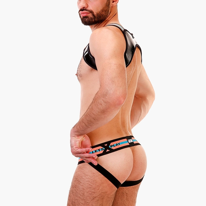 BARCODE Berlin JOCKstrap Player 91688 in neon orange mit turquoise