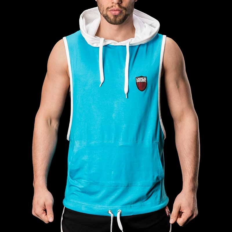 BARCODE Berlin Hoodie TANKTOP Home 91120 bambus in turquoise