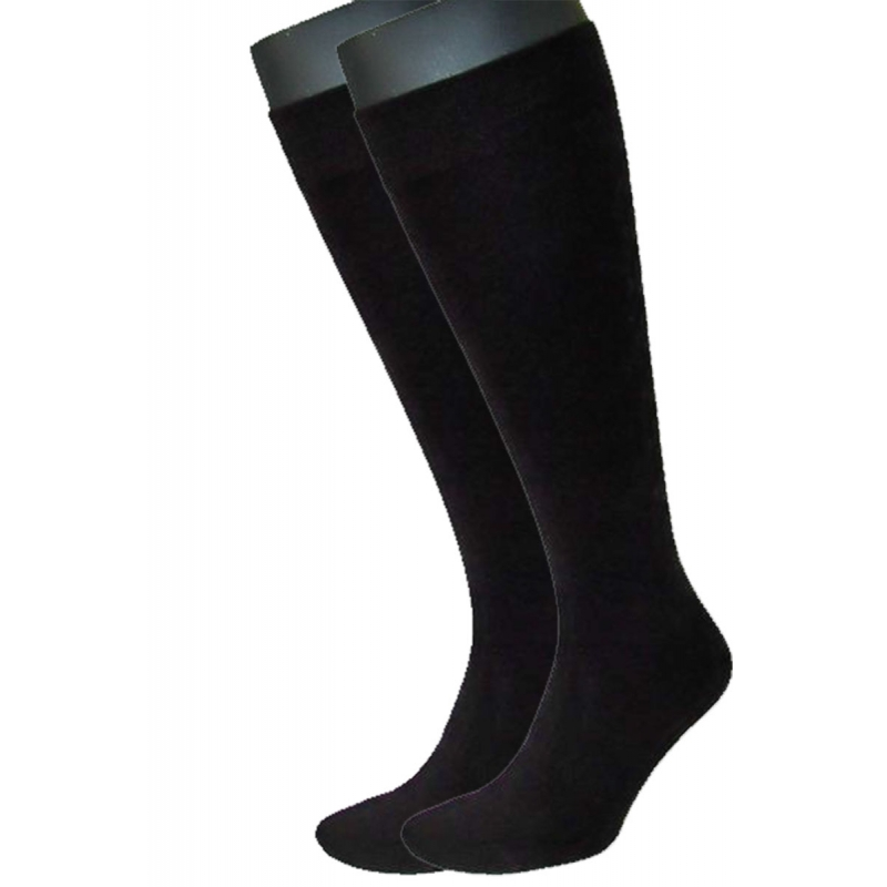 SYMPATICO KNEE STOCKING 2-pair unisex black