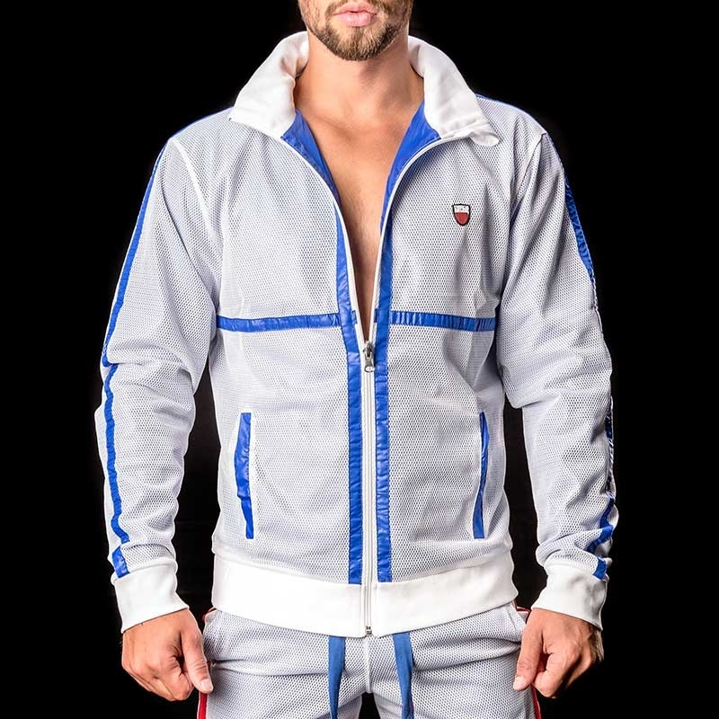BARCODE Berlin JACKE MESH Double Face Ivo white-blue
