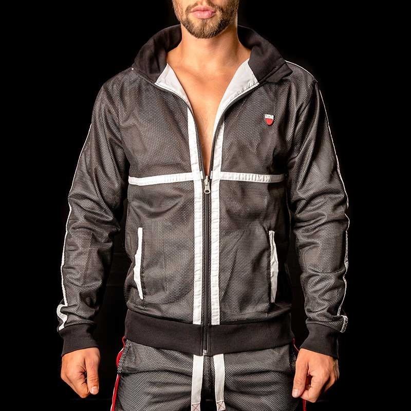 BARCODE Berlin JACKE MESH Double Face Ivo black-white