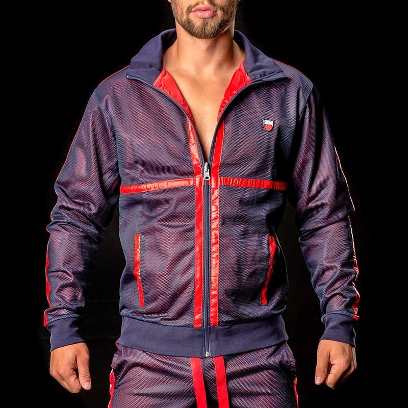 BARCODE Berlin JACKET mesh 91020 levels in blue-red