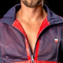 BARCODE Berlin JACKE MESH Double Face Ivo blue-red