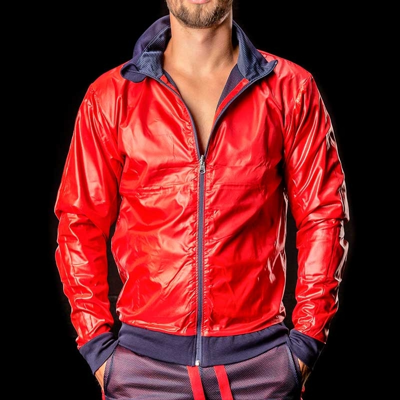 BARCODE Berlin pvc JACKE WET-MESH Double Face Ivo red-blue