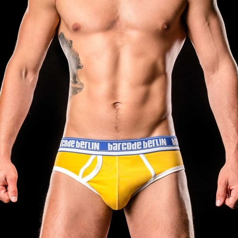 BARCODE Berlin SLIP regular KREUZBERG basic 90993 retro style yellow-blue