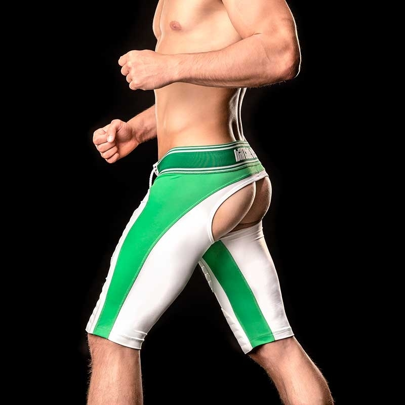 BARCODE Berlin backless trunks PANTS game 90946 football in green