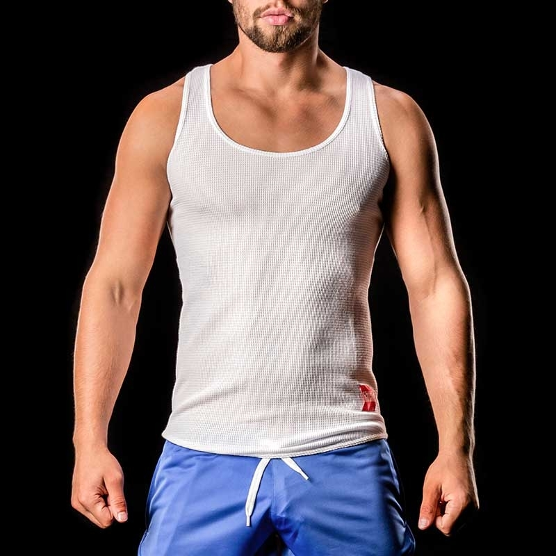 BARCODE Berlin TANK Top Thermo Omar wabe-white