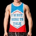 BARCODE Berlin TANK Top MAN -I am not here to talk-