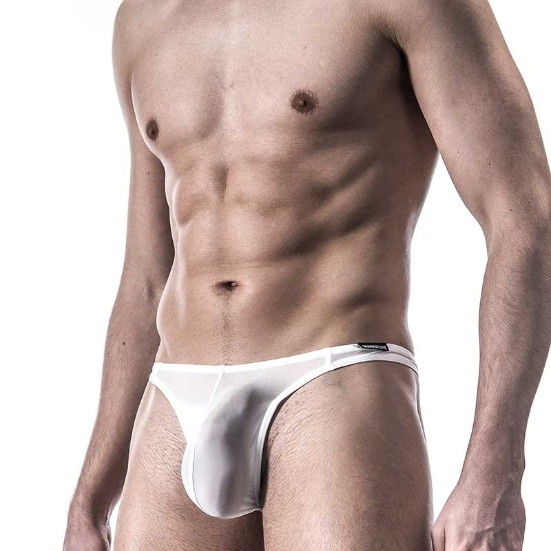 MANSTORE STRING pouch M101 Push-up white-mesh