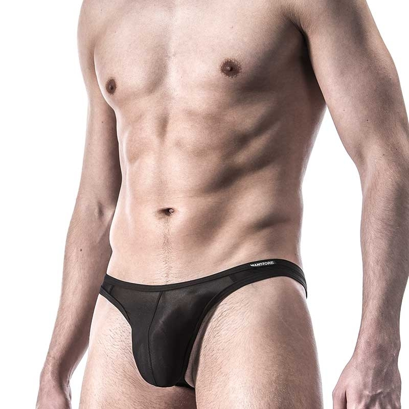 MANSTORE STRING lasso M101 Push-up black-mesh