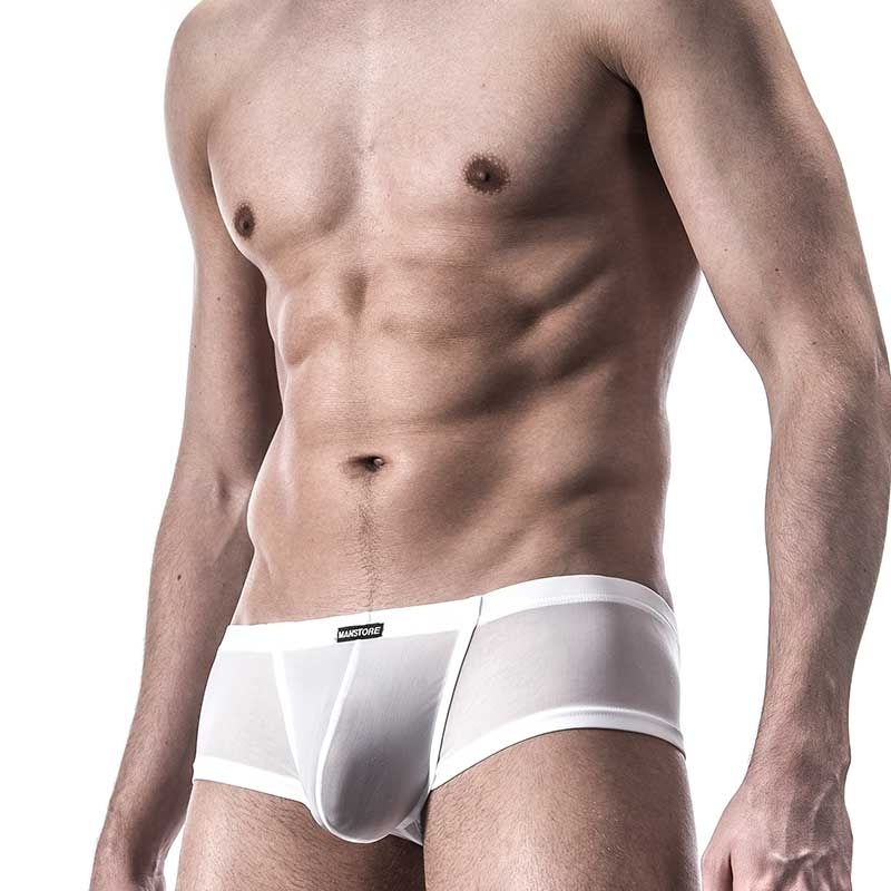 MANSTORE PANTS hot M101 cheeky white-mesh