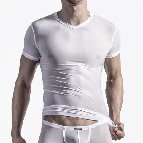 MANSTORE T-SHIRT hot M101 basic white-mesh