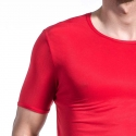 OLAF Benz T-SHIRT micro RED1201 Ripp red