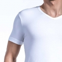 OLAF Benz T-SHIRT v-neck RED1203 home muskel white