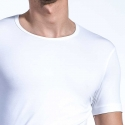 OLAF Benz T-SHIRT u-neck RED1203 home muskel white