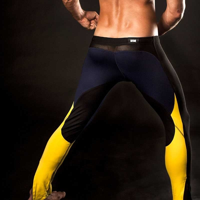 BARCODE Berlin HOSE MESH Rass Legging Athletik yellow
