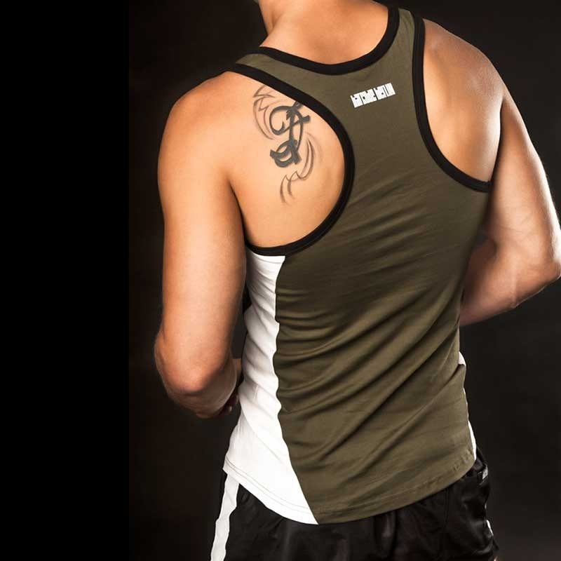 BARCODE Berlin TANK Top game 20 athletic oliv