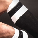 BARCODE Berlin KNIE STRUMPF football-socken black-white