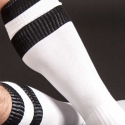 BARCODE Berlin KNIE STRUMPF football-socken white-black