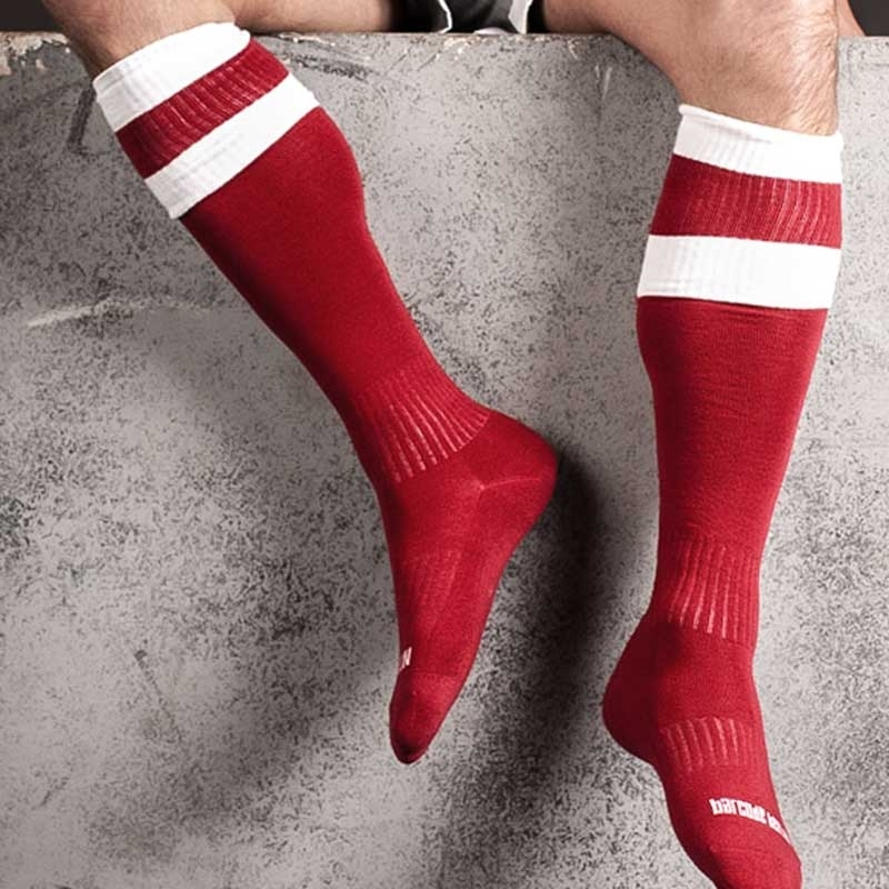 BARCODE Berlin KNEE SOCKS football red-white