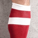 BARCODE Berlin KNIE STRUMPF football-socken red-white