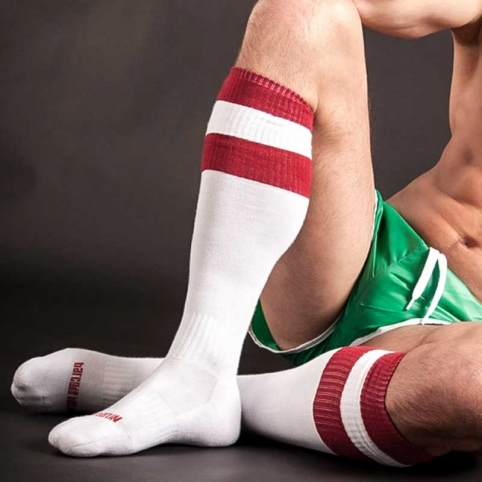 BARCODE Berlin KNEE SOCKS 90143 football white-red