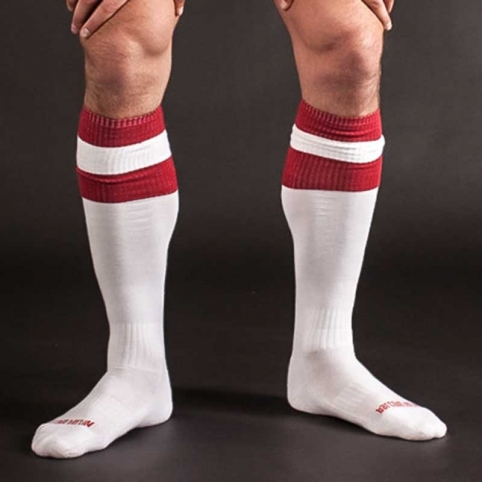 BARCODE Berlin KNEE SOCKS football white-red