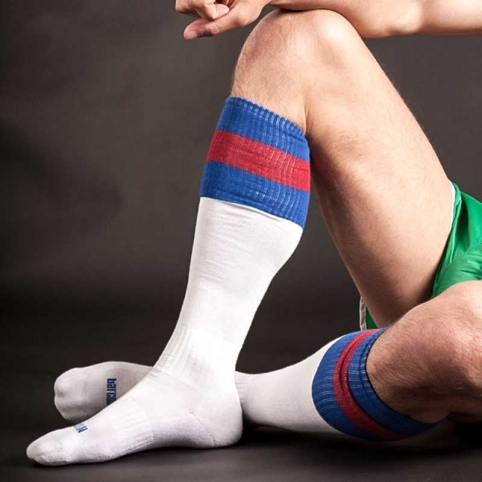 BARCODE Berlin KNEE SOCKS 90143 football white-blue-red