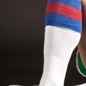 BARCODE Berlin KNEE SOCKS football white-blue-red