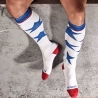 BARCODE Berlin KNIE STRUMPF USA-STAR-socken white-blue-red