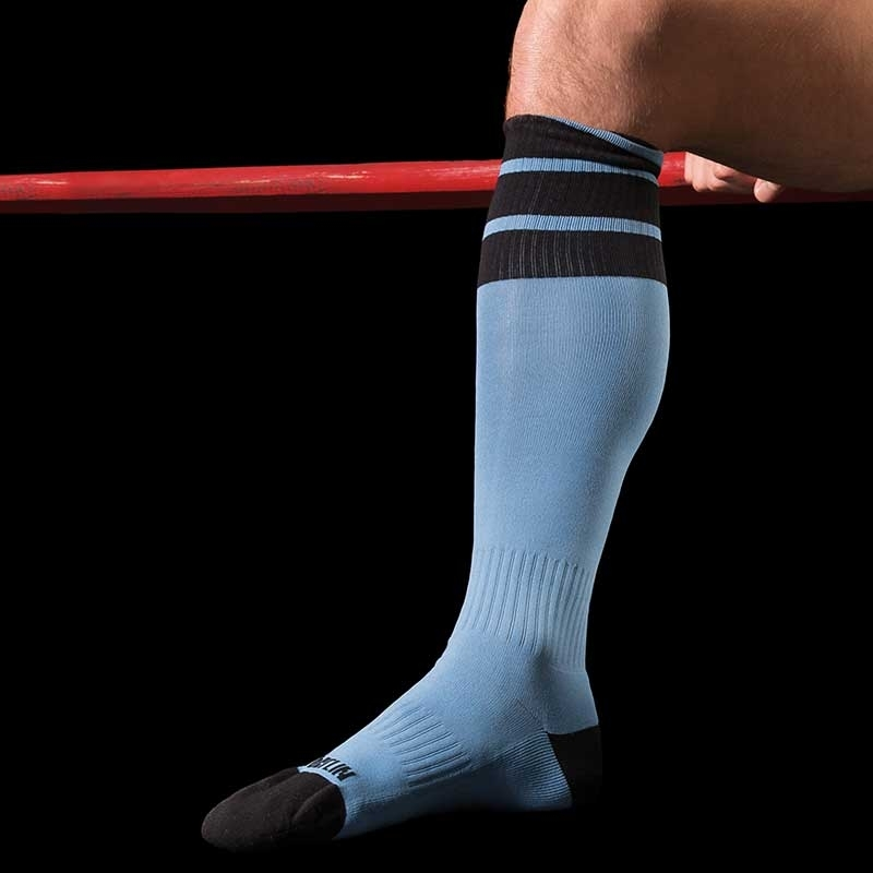BARCODE Berlin KNEE SOCKS sport 91062 rugby blue black