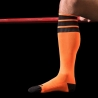 BARCODE Berlin KNIE STRUMPF sport neon socken orange black