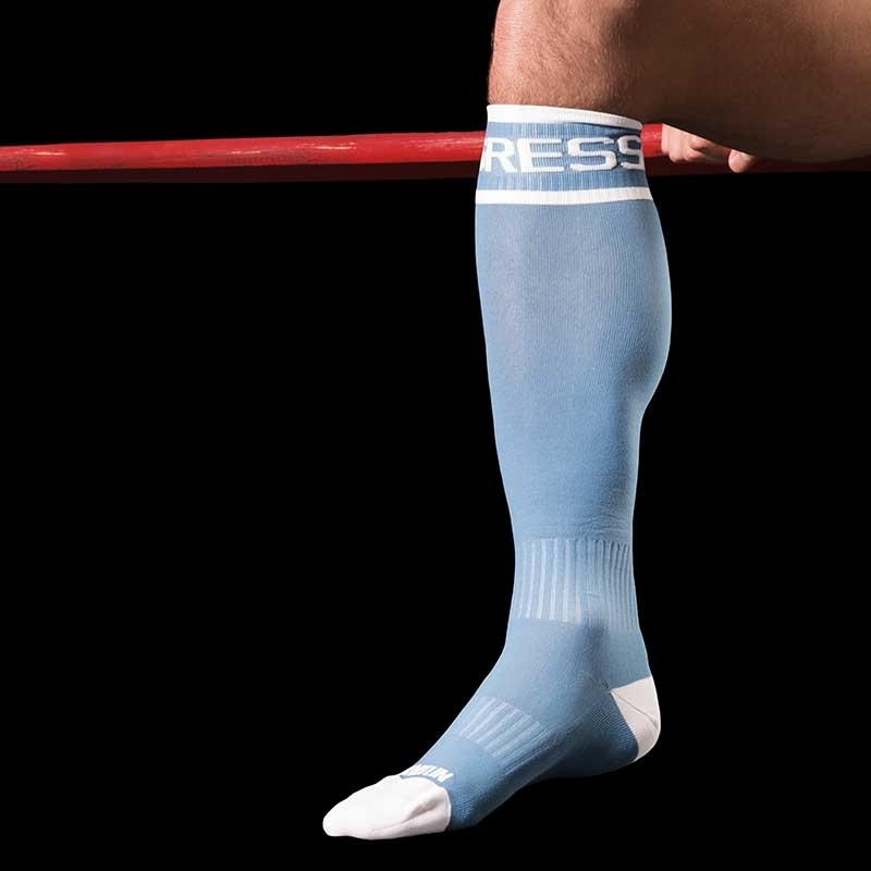 BARCODE Berlin KNIE STRUMPF rugby AGGRESSIV game socken blue