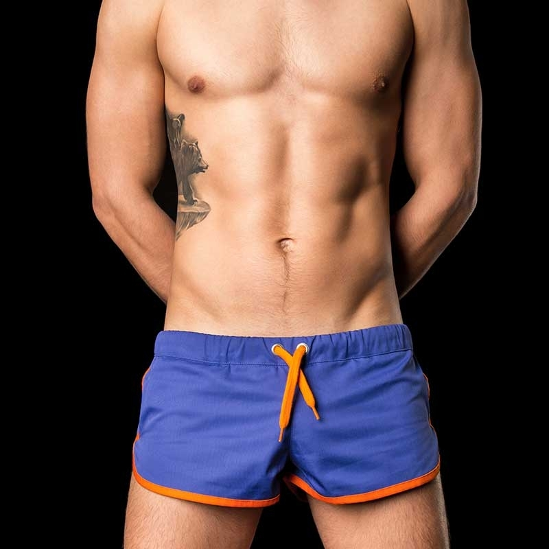 BARCODE Berlin SHORTS gym sprint 10090 blue-orange