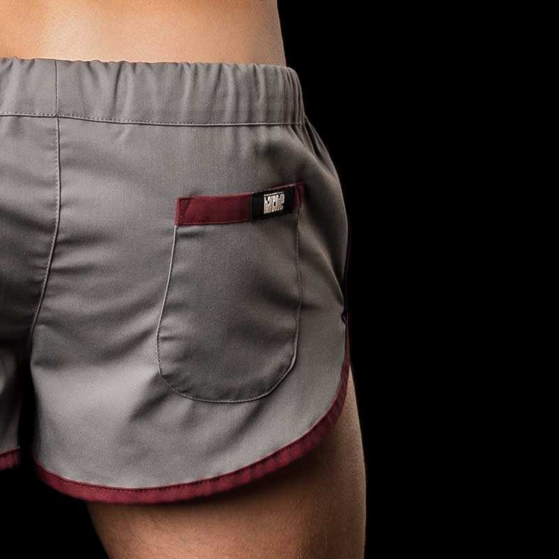 BARCODE Berlin SHORTS LIMITED gym sprint 10090 grey-bordeaux